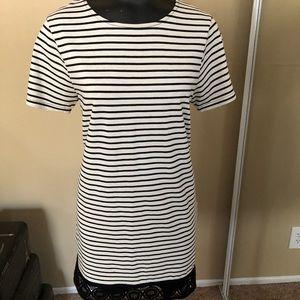 Black Stripe & Cream Dress